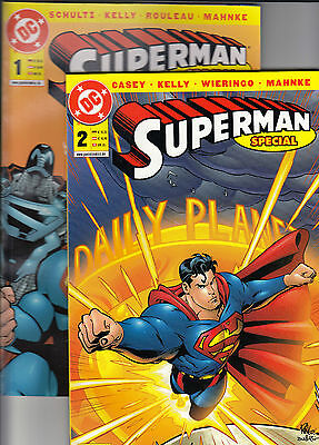 SUPERMAN SPECIAL (deutsch) # 1 + 2 KOMPLETT - PANINI 2002 - TOP
