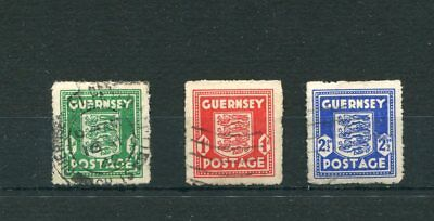 Guernsey. 3 -- Early Used Stamps On Stockcard