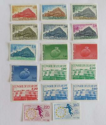 France 1977 - 89 small collection Council of Europe UMM