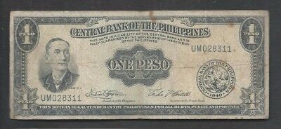 Philippines 1949 1 Peso P 133g Circulated