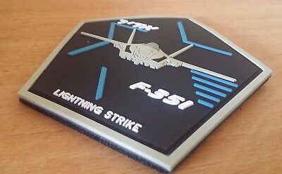 Iaf Israel Air Force F-35I Adir Pvc 3D Patch Rare!!!