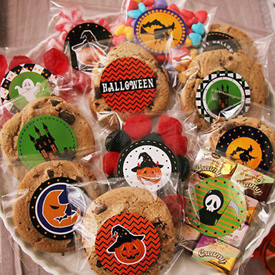 120X Halloween Stickers Decorative Bakings Packing Seals Affixed Bottle PG