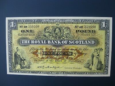 NICE 1956 ROYAL BANK OF SCOTLAND £1 BANKNOTE CRISP aEF