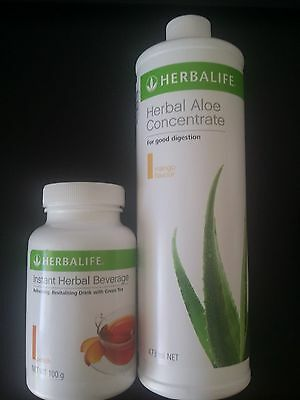Herbalife Healthy Fat Flusher - Instant Herbal Beverage + Aloe Concentrate