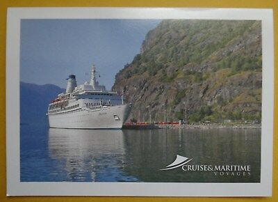 CRUISE SHIP - MV DISCOVERY - GREETING CARD - BLANK - UNUSED -210mm x 150mm