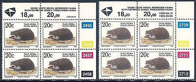 South Africa 1993/95 Sixth Definitive Series 20c Control Blocks x (2) (**)