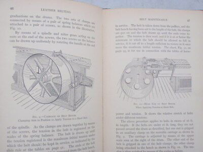 Leather Belting as A power  source  illustrated  1916
