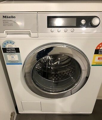 how to use a miele front loader washing machine