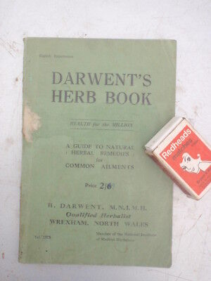 Darwents Herbs for Health,   1951, 96 page   Booklet