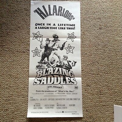 Orig Movie Poster BLAZING SADDLES