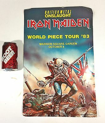 Original IRON MAIDEN World Piece Tour 1983 POSTER Madison Square Garden