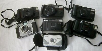 Vintage joblot of SEVEN  35mm cameras – good condition, untested