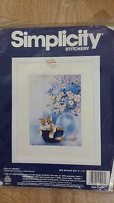 Simplicity CUP OF TROUBLE Crewel Embroidery Kit