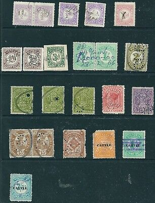 Victoria , 22 Pre Decimal Stamp Duty , Revenue / Tax stamps , mainly used .(N)