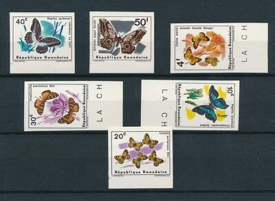 [91477] Rwanda Butterflies good imperorated set Very Fine MNH stamps
