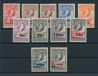 [91871] Bechuanaland Protectorate good set Very Fine MNH stamps