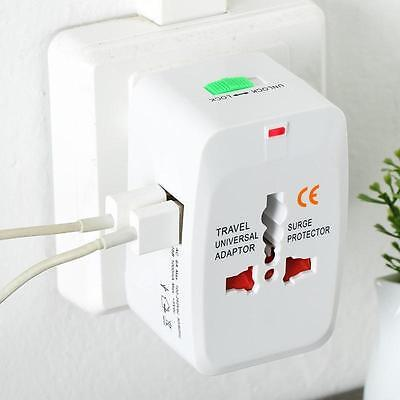 Universal International World Wide Multi Travel Plug Charger Adapter 2USB PORT