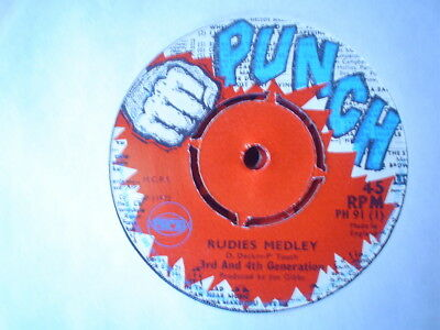 Uk Punch Ph 91-3Rd And 4Th Generation-Rudies Medley/jogibs-Rude Boy Version-Vg++