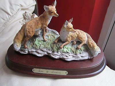 Lovely Foxes by Leonardo Figurine on Base