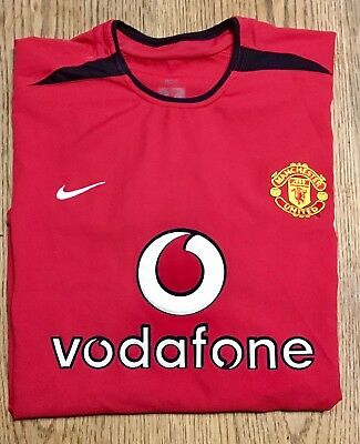 MANCHESTER UNITED HOME FOOTBALL SHIRT 2002-2003 (ADULT SIZE) NIKE VODAFONE Large