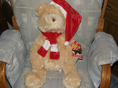 """22"""" Rite Aid Bear Snuggly Soft ALL TAGS Excellent Christmas Plush Bear"""