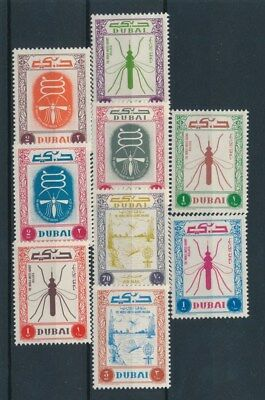 [92501] Dubai Insects good set Very Fine MNH Airmail stamps