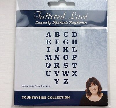 Lightly Used Tattered Lace Countryside Collection Alphabet Dies