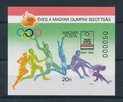 [92599] Hungary 1985 Olympics good imperforated sheet Very Fine MNH