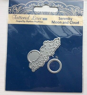 Lightly Used Tattered Lace Serenity Moon And Cloud Die Set.