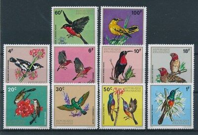 [92938] Rwanda 1972 Birds good set Very Fine MNH stamps