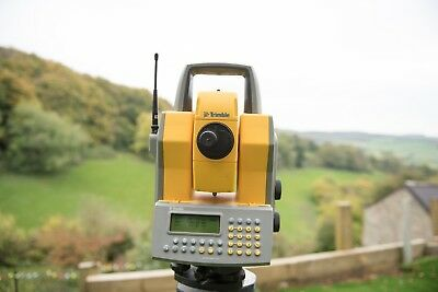 TRIMBLE 5605 ROBOTIC TOTAL STATION + TRACKLIGHT + Radio + CALIBRATION + CASE