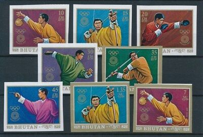 [93488] Bhutan 1972 Olympics good imperf. set Very Fine MNH Airmail stamps