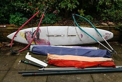 Windsurfer set with masts, booms and sails for beginners/children and adult