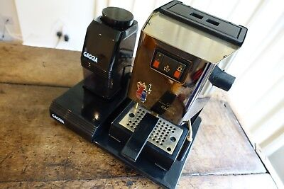 Gaggia Classic Espresso Machine - Brass finish - with grinder and tamping tray