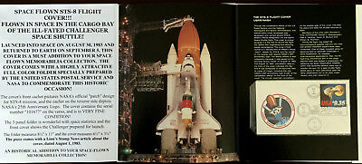1983 Nasa Ill-Fated Challenger Space Shuttle Flown Sts-8 Flight Cover/folder Vf!
