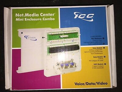 ICC Mini Combo Voice/Data/Video Structured Wiring Enclosure, No Tax, Free Ship