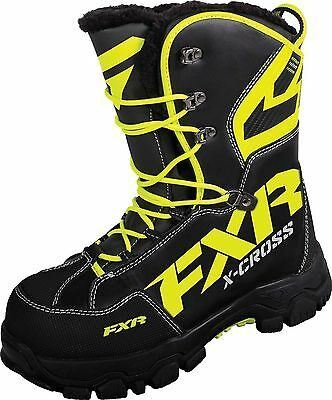 FXR X-CROSS ADULT Black/HiVis WARM WINTER SNOW BOOTS- Sizes 6.5 - 7 - 9 - NEW