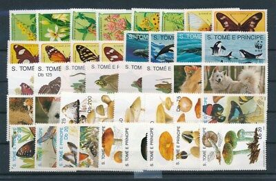 [G91601] S. Tome and Principe Fauna/Flora good lot Very Fine MNH stamps