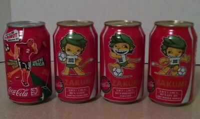 Coca-Cola 2010 South Africa FIFA Coke Cans, Empty
