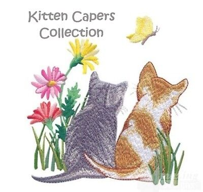 Kitten Capers Collection - Machine Embroidery Designs On Cd