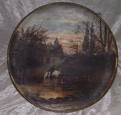 Antique Watcombe Torquay Wall Plaque/plate Victorian C.1880.