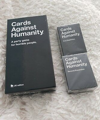 cards against humanity and first and second expansion