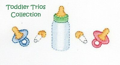 Toddler Trios Collection - Machine Embroidery Designs On Cd