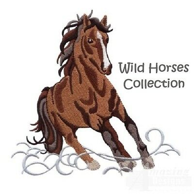 Wild Horses Collection - Machine Embroidery Designs On Cd
