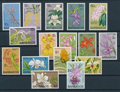 [G92180] Barbados Flora good set Very Fine MNH stamps