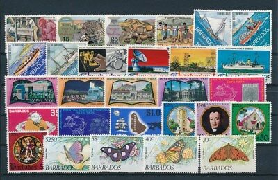 [G92199] Barbados good lot Very Fine MNH stamps