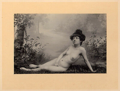 #9 CLASSICAL NUDE WOMAN STUDY Hairstyle AKT STUDIE * Vintage 1900s French Photo