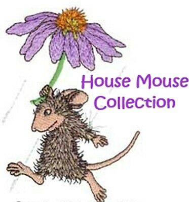 House Mouse Collection - Machine Embroidery Designs On Cd