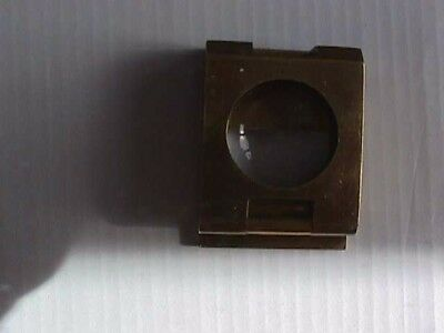 Antique/early 20Th Century Brass Magnifying Folding Thread Counter