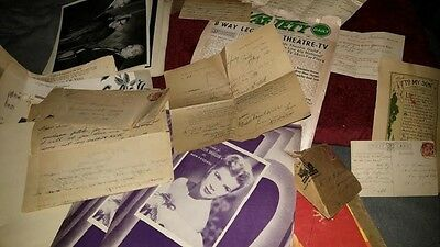 WWI LOT 14 Page Soldier Anti-German Letter to MGM Songwriter Dudley Wilkinson